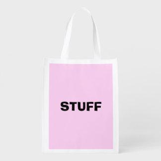 Nur rosa hübscher Normallackhintergrund Wiederverwendbare Einkaufstasche