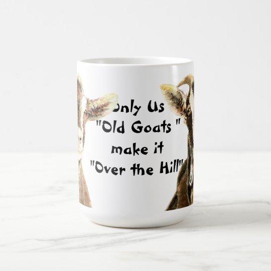 Nur wir alte Ziegen machen es über dem Kaffeetasse