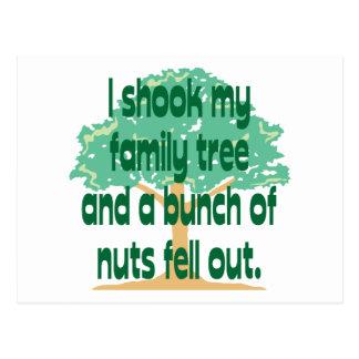 Nussartige Familie Postkarte