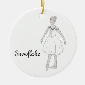 Nussknacker-Schneeflocke-Andenken-Verzierung Keramik Ornament
