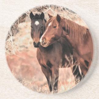 Nuzzling Pferde Untersetzer