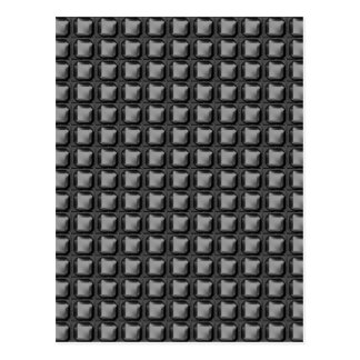 NVN4 schwarze Quadrat-Rect Kunst durch NavinJOSHI Postkarte