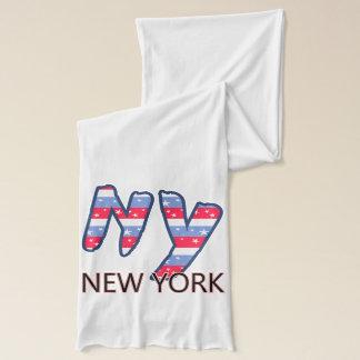 NY - New- Yorkzitat-rotes weißes und blau Schal