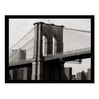 NYC Brooklyn-Brücken-Nahaufnahme Postkarten