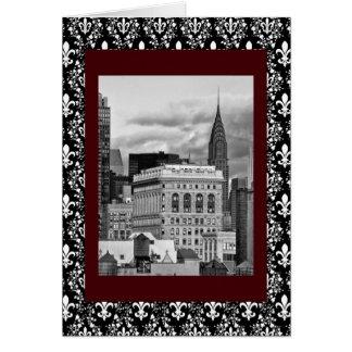 NYC: Chrysler-Gebäude, Rückseite von Flatiron B&W Karte