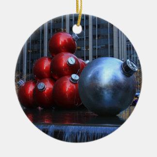 NYC enorme Weihnachtsverzierungen Keramik Ornament