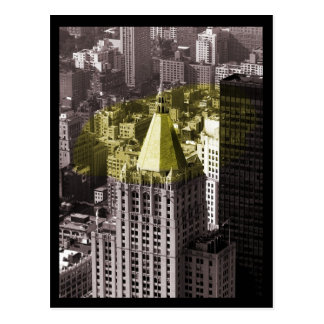 NYC Gebäude Postkarte