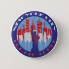 NYC großer Apple Patriot Runder Button 5,7 Cm