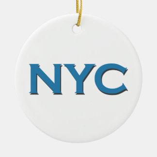 NYC Logo (Text) Rundes Keramik Ornament