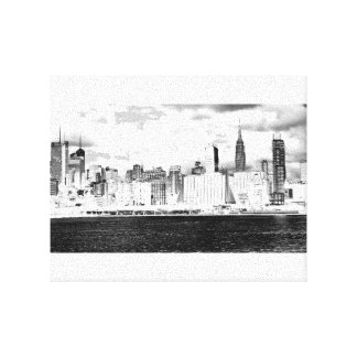 NYC New York Manhattan 25,4cm x 20,32cm Gespannte Galeriedrucke