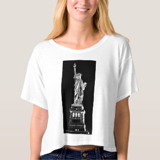 NYC New York Statue of Liberty Canvas T-Shirt