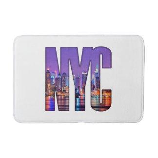 NYC Skyline (dunkel) Badematte