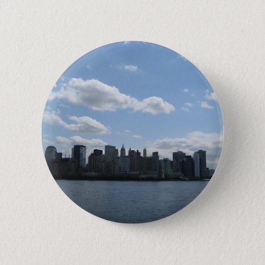 NYC Skyline Runder Button 5,7 Cm