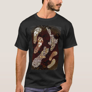 NZ Leben ist ein Strand T-Shirt