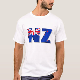 NZ Logoflagge von Neuseeland T-Shirt