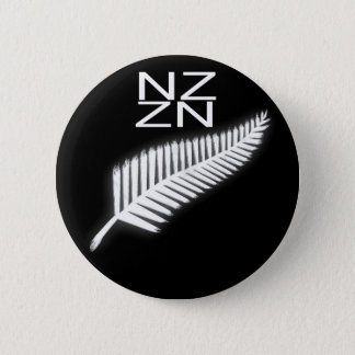 NZ silberner Farn-nationales Emblem-patriotischer Runder Button 5,7 Cm