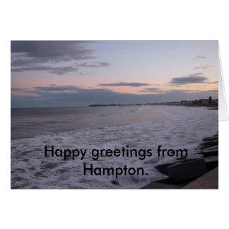 o17C, glückliche Grüße von Hampton Karte