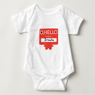 O hallo, mein Name ist Brandon Baby Strampler