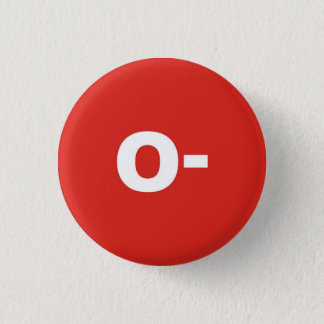 O- Negatives Abzeichen Blut-Art-/Gruppen-relativer Runder Button 2,5 Cm