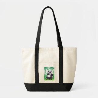 O.O. Glückliche Panda-Tasche B&W Tragetasche