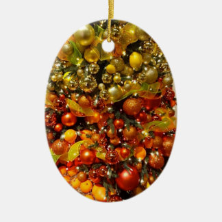 O-Zitrusfrucht-Baum-Weihnachtsverzierung von Ovales Keramik Ornament