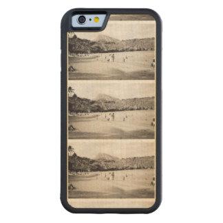 Oahu Hawaii schwarze u. weiße Fotografie-Fliese Bumper iPhone 6 Hülle Ahorn