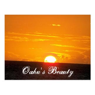 Oahus Schönheit Postkarte