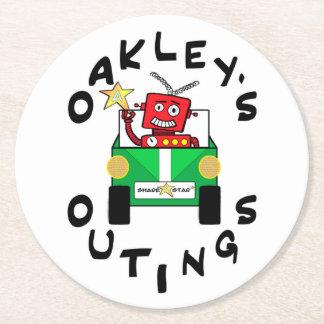 Oakleys Ausflug-PapierUntersetzer Runder Pappuntersetzer