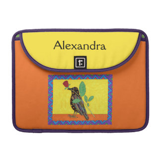Oaxacan Krähen-u. Rosen-mexikanischer Sleeve Für MacBooks