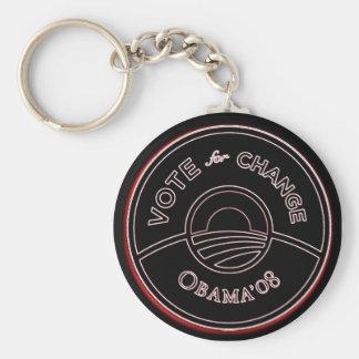 """""""OBAMA '08"""" Keychain Standard Runder Schlüsselanhänger"""