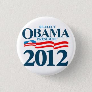 Obama 2012 runder button 2,5 cm