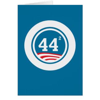 Obama - 44 quadriert karte