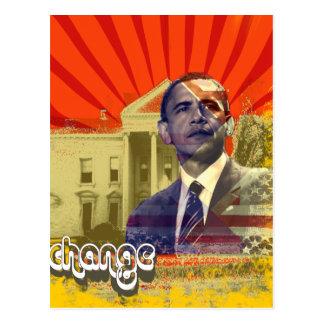 Obama-Änderung - Postkarten