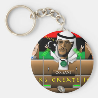 Obama-Araber-Frühling Standard Runder Schlüsselanhänger