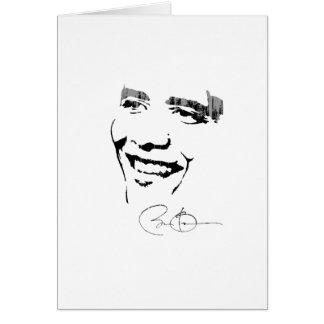 Obama-Autogramm 2 Vintage.png Grußkarte