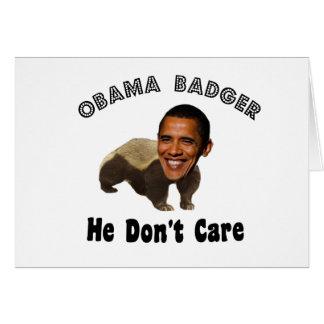 Obama-Dachs Obama politisch Grußkarte