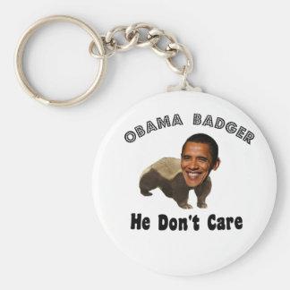 Obama-Dachs Obama politisch Standard Runder Schlüsselanhänger