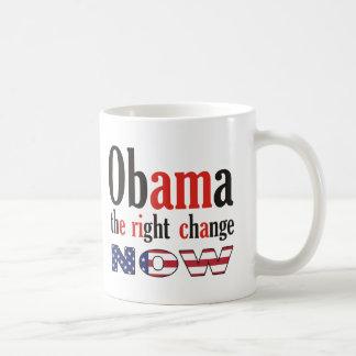 Obama - die rechte Änderung jetzt (Amerika) Kaffeetasse