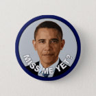Obama: Fräulein Me Yet? Runder Button 5,7 Cm