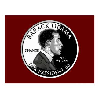 Obama für Präsidenten (rote) Postkarte