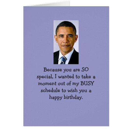 Obama-Geburtstagswünsche Grußkarte