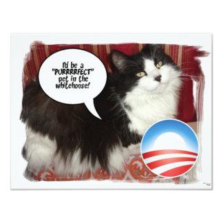 Obama-Haustier/politischer Spaß 10,8 X 14 Cm Einladungskarte