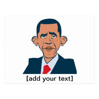 Obama - lustiges Porträt Postkarten