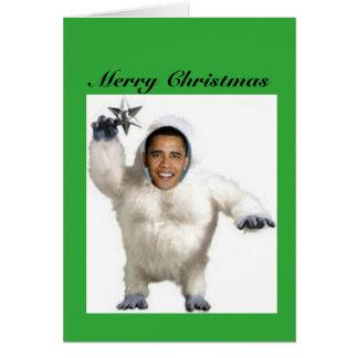 Obama--nableSchneemann-Weihnachtskarte Karte