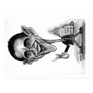 Obama Postkarte-Karikatur
