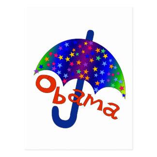 Obama-Regenschirm-Einweihungs-Memento Postkarten