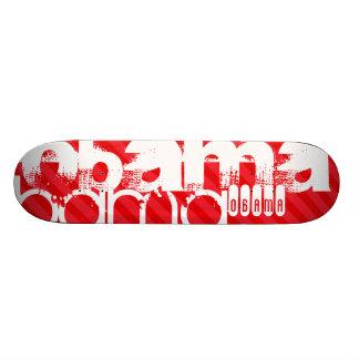 Obama; Scharlachrot Rot-Streifen- Skateboardbrett