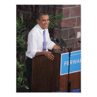 Obama spricht fotografische drucke