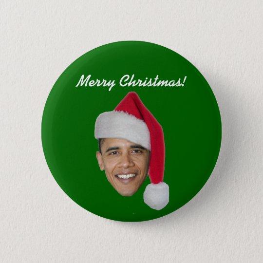 Obama-Weihnachtsknopf (Obama-T-Shirt Runder Button 5,7 Cm