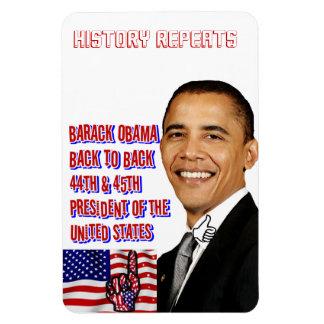 Obama, zurück zu Back_Premium Flexi Magneten Magnet